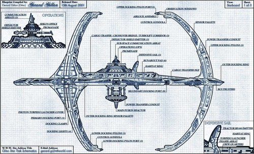 bituin Trek: Deep puwang Nine wolpeyper entitled DS9 Blueprint
