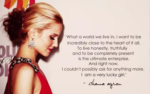 Dianna Agron quote art.