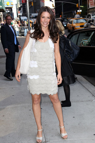 Evangeline Lilly Late - دکھائیں With David Letterman' 10.05.2010