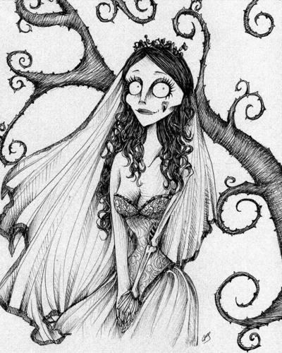 tim burton wallpaper titled fã Art Corpse Bride