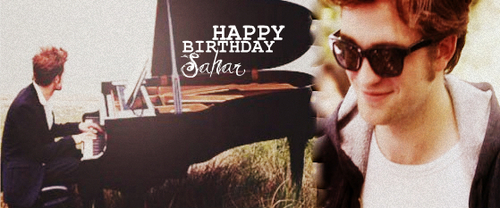 HAPPY BIRTHDAY SAHAR♥