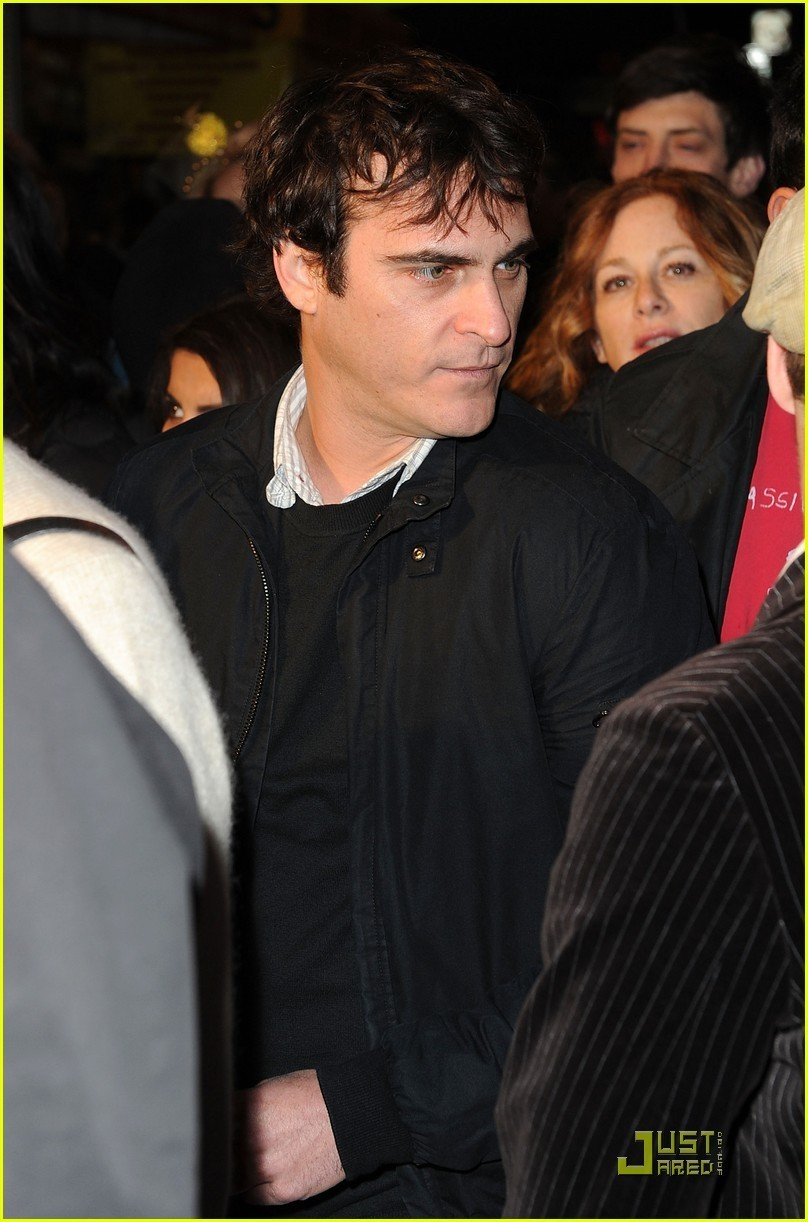 Joaquin at the Exit Through the Gift duka premiere (April 12)