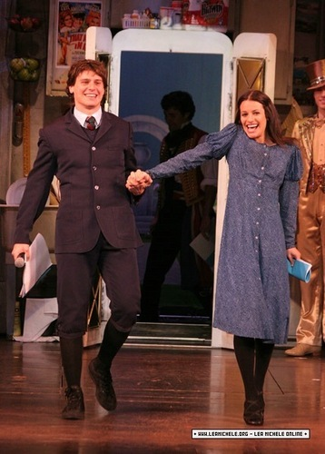 Lea Michele and Jonathan Groff, Spring Awakening