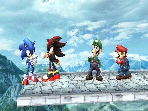 Mario Luigi Sonic Shadow
