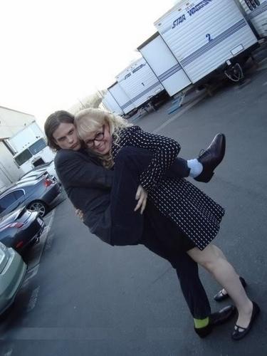 Matthew Gray Gubler and Kirsten Vangsness