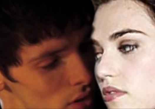 Merlin And Morgana Kiss Merlin and Morgana Kiss