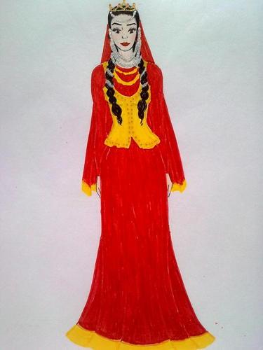 National Azeri dress