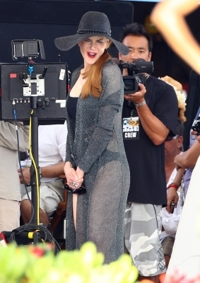 Nicole filming on location in Hawaii