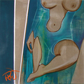 Original paintings oleh Rebecca Fontaine serigala