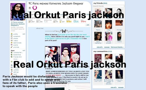 Orkut of real Paris jackson, in original version