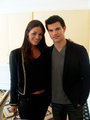 Picture Of Taylor Lautner With Brazilian Reporter - twilight-series photo