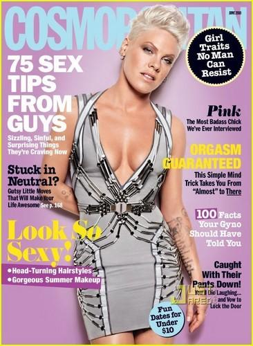 گلابی Covers 'Cosmopolitan' June 2010