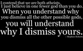 Dismiss - atheism wallpaper