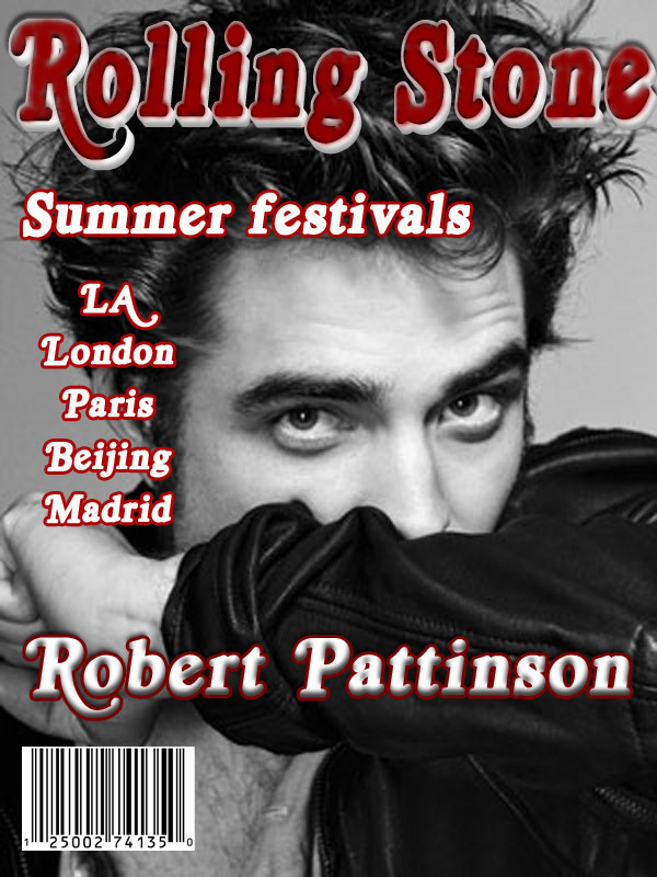 Robert Pattinson Rolling Stone Magazine Cover