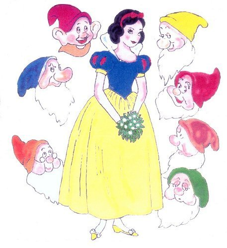 Snow White karatasi la kupamba ukuta called Snow White & the 7 Dwarfs