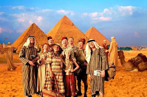 The Weasley's in Egypt; Original and in Colour.