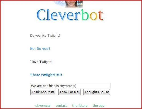 Twilight Conversation With Cleverbot