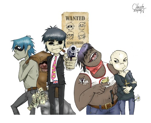 Wanted Gorillaz - gorillaz Fan Art