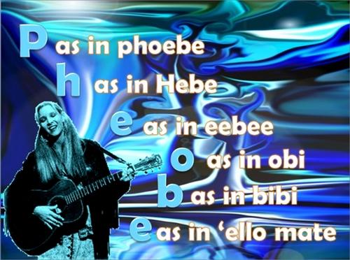 how do u spell pheobe? well...