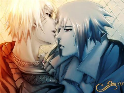 sasuke & naruto love story wallpaper called sasunaru