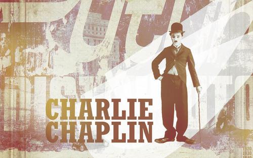 Charlie Chaplin karatasi la kupamba ukuta entitled * KING OF moyo CHARLIE CHAPLIN *