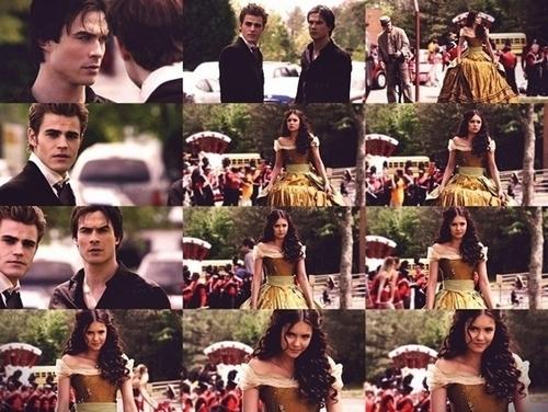 Damon & Elena wallpaper titled DE