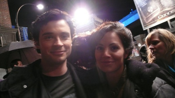 Photo of Tom Welling & his friend actress  Erica Durance - Los Angeles