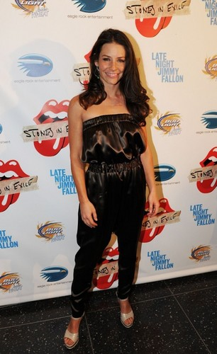 Evangeline Lilly arrives at a screening of The Rollling Stones Documentary