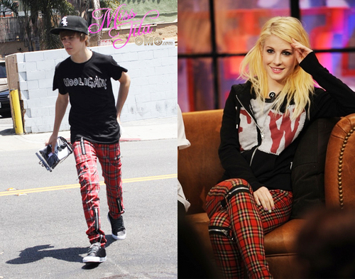 IsabellaMCullen پیپر وال entitled Hayley & Justin have the same pants?