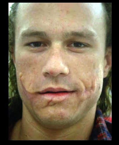 Heath Ledger in the mask for the Joker - heath-ledger Photo