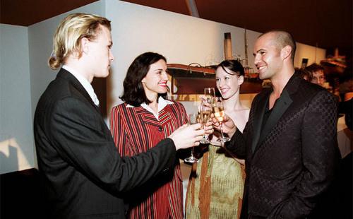 Heath Ledger on the titanic Premiere 1997