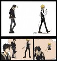 Izaya and Shizuo Part 1 - durarara fan art