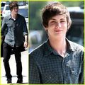Logan Lerman Out And About - logan-lerman photo