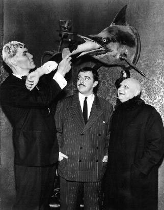 Lurch, Gomez, and Uncle Fester