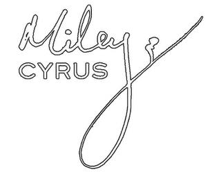 Miley Cyrus Signature
