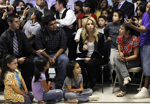 Shakira at the Carl Hayden Youth Center in Phoenix - April 29