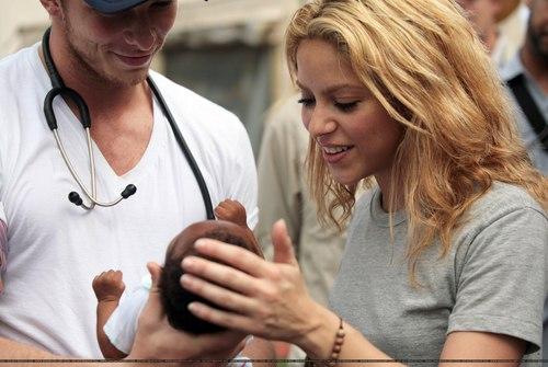 Shakira visits Port-Au-Prince, Haiti - April 11