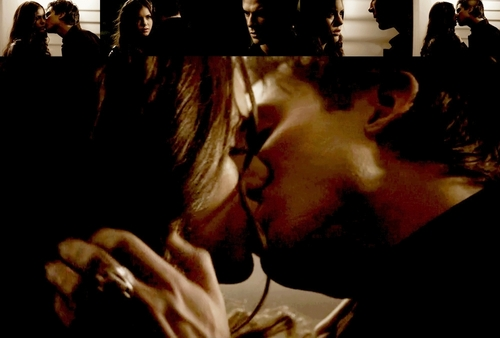Damon & Elena wallpaper titled damon & elena (katherine)