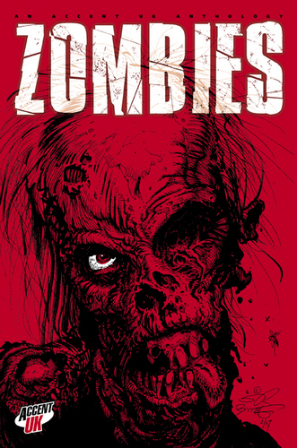 Zombies wallpaper entitled red zombie