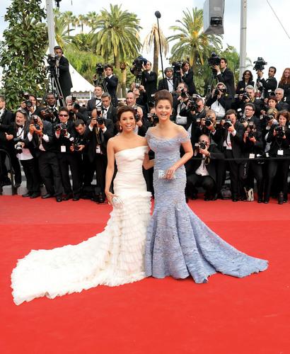 Aishwarya Rai with Eva Longoria at the Cannes Film Festival 2010