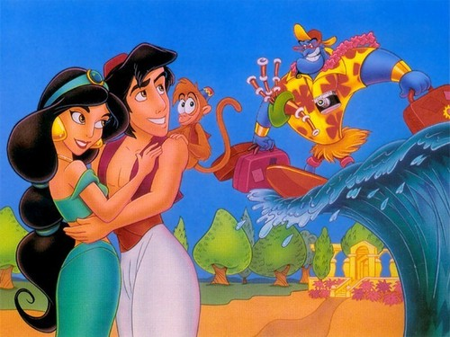 Disney Couples wallpaper titled Aladdin and Jasmine