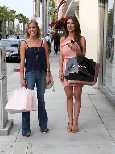 Audrina Patridge & Kristin Cavallari Shopping In Beverly Hills April 16th