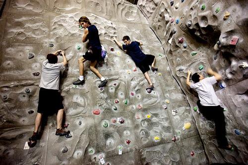 BTR rock climbing.. Hilarious