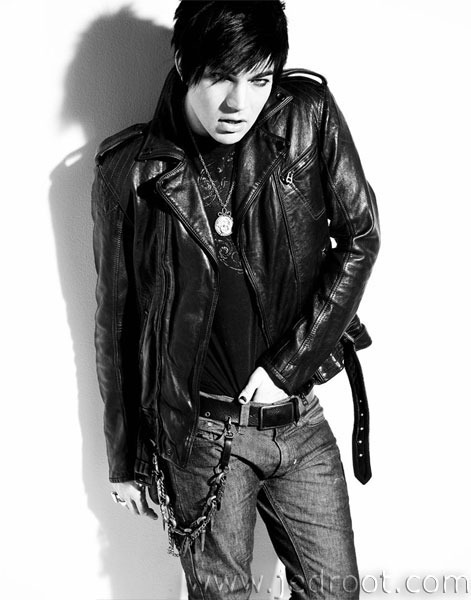adam lambert black and white photoshoot. Black White