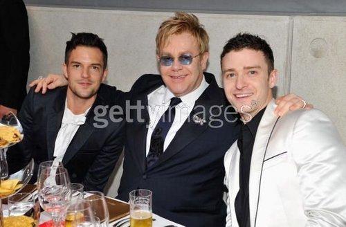 Brandon Flowers, Elton John, justin Timberlake