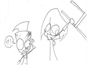 Invader Zim FanCharacters wallpaper titled CHAAIIIRRR