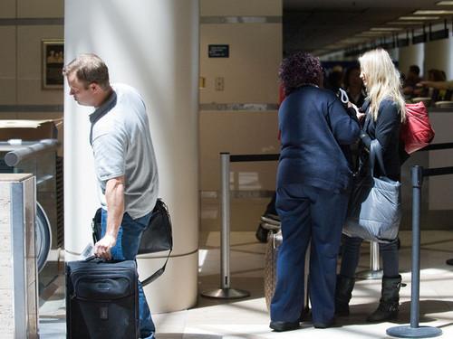Cameron Diaz at the Airport