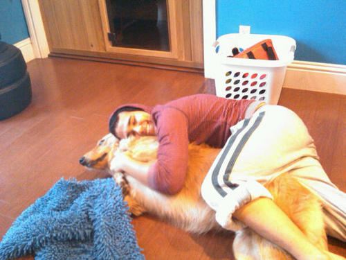 Carlos & His Dawg...XD