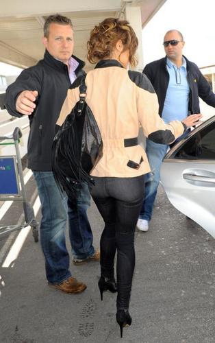 Cheryl Cole arriving at Heathrow Airport (April 3)