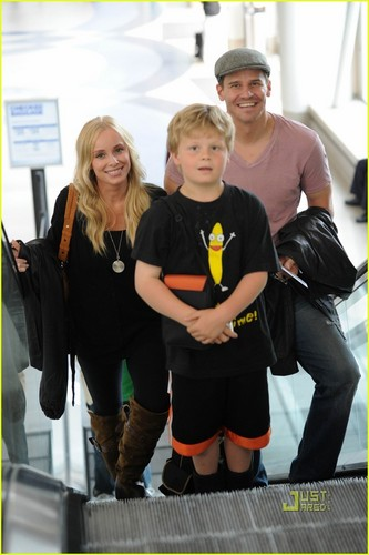 David Boreanaz & Jaime Bergman at LAX